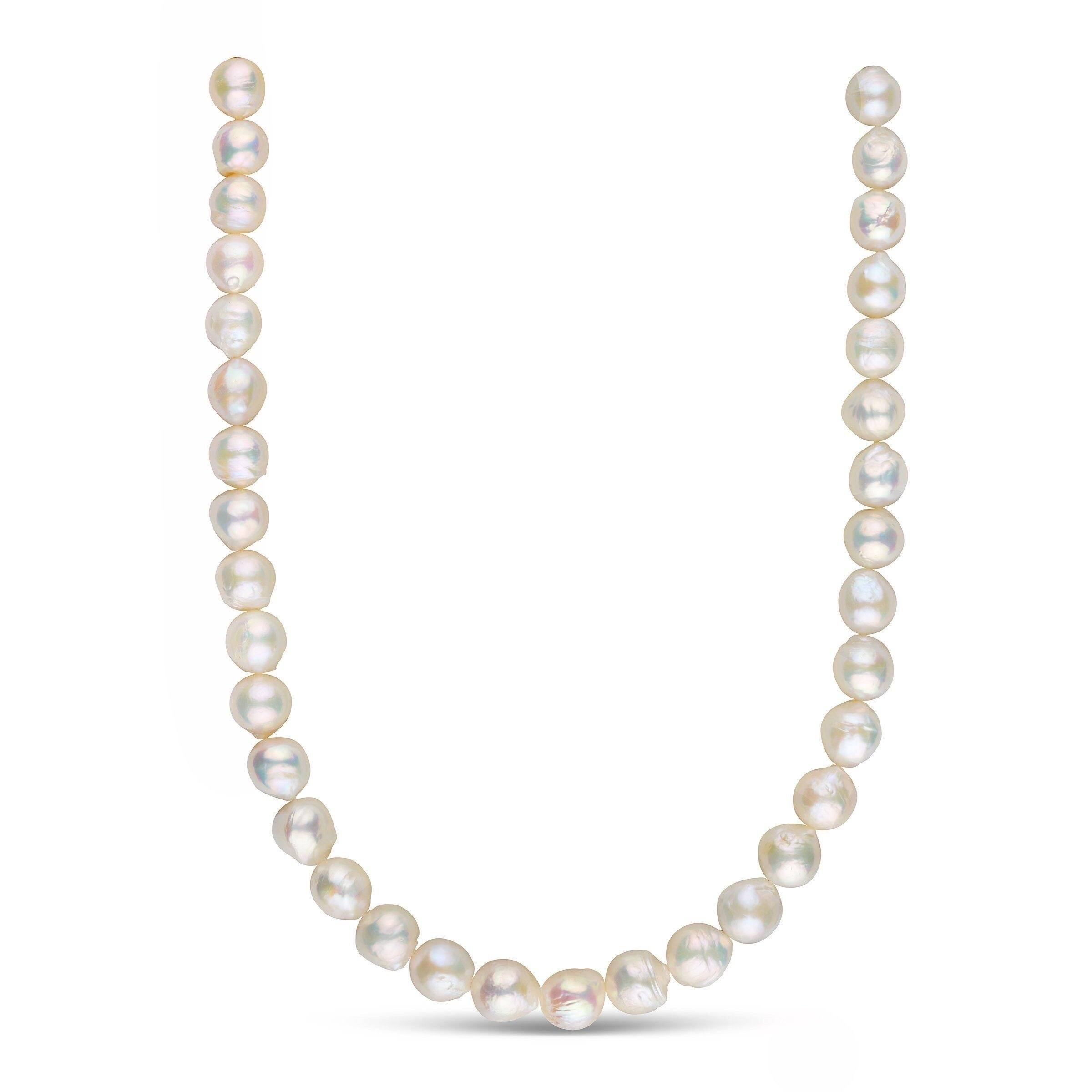 Metallic White Freshwater Ripple Pearl Necklace