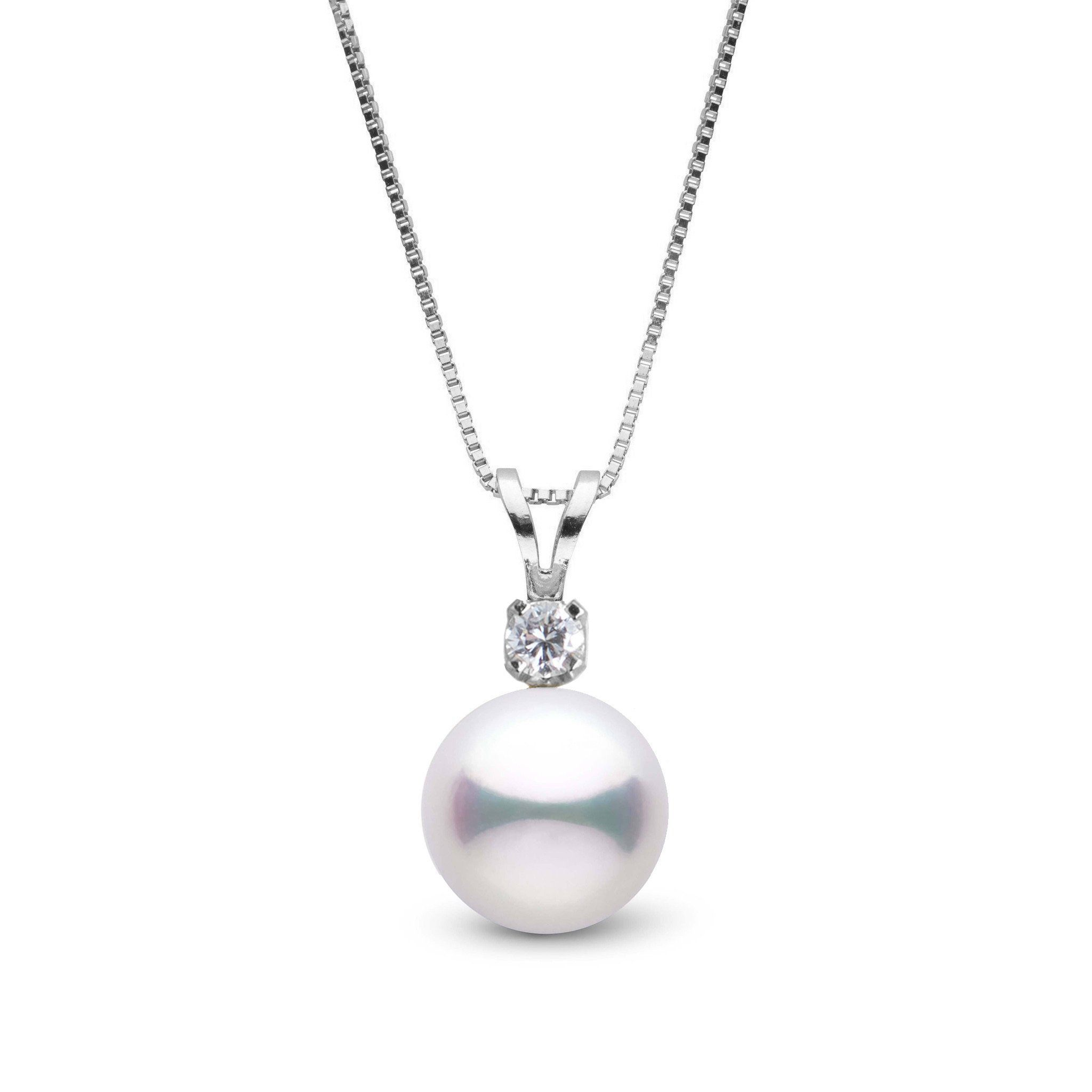 Grand Harmony Collection 9.0-9.5 mm Akoya Pearl & Diamond Pendant