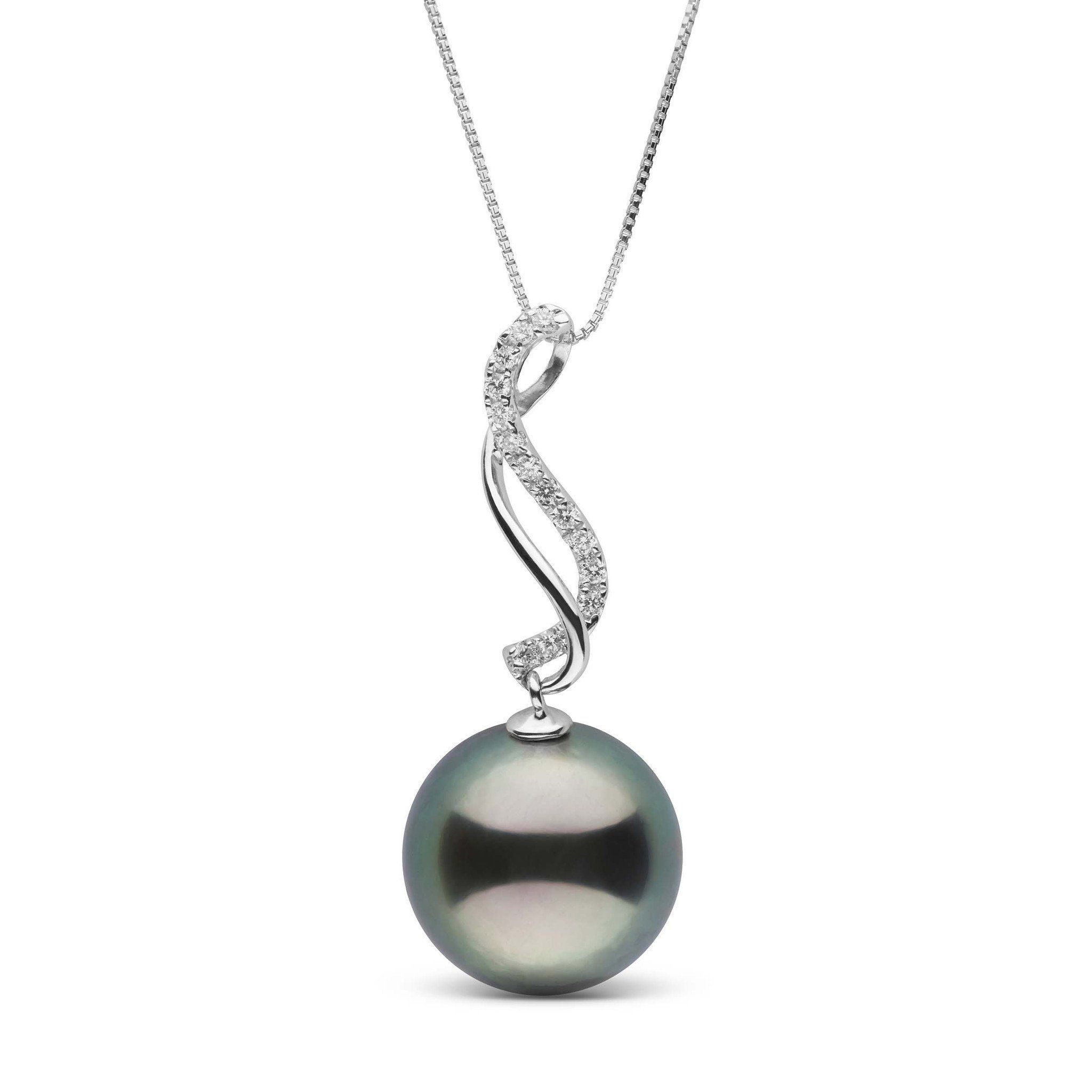 Infinity Collection 11.0-12.0 mm Tahitian Pearl & Diamond Pendant