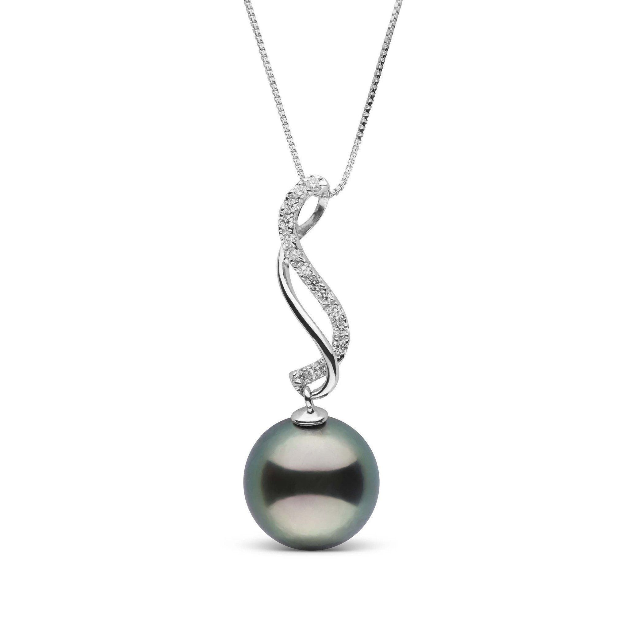 Infinity Collection 9.0-10.0 mm Tahitian Pearl & Diamond Pendant