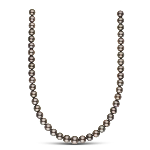 9.0-11.2 mm AAA Tahitian Round Pearl Necklace