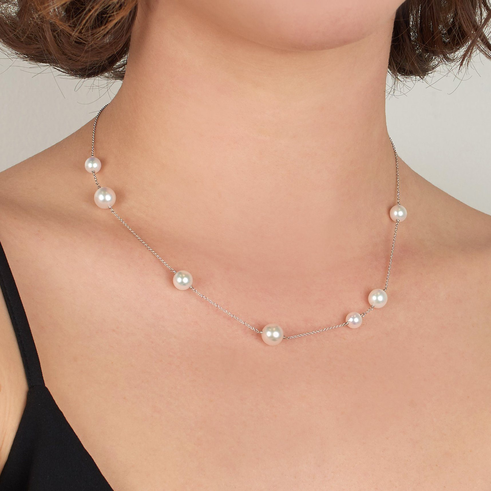 Luna Collection Akoya Pearl Necklace