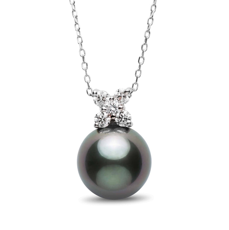 Kiss Collection 12.0-13.0 mm Tahitian Pearl and Diamond Pendant