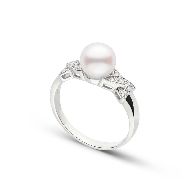 Kiss Collection Freshadama Pearl and Diamond Ring