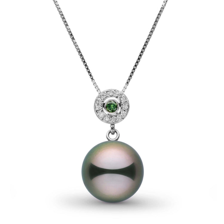 Lavish Collection 11.0-12.0 mm Tahitian Pearl and Diamond Pendant