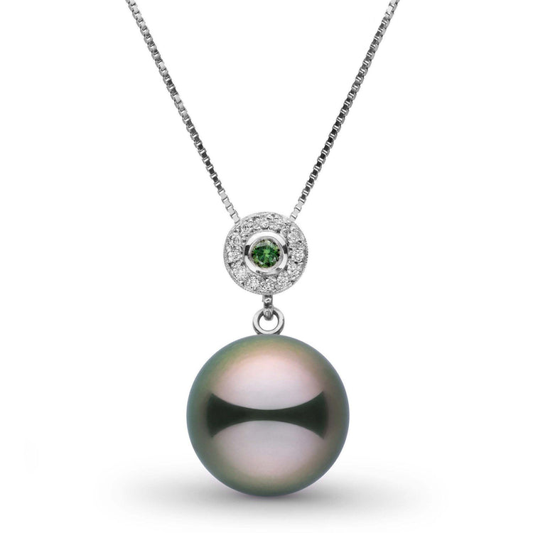 Lavish Collection 12.0-13.0 mm Tahitian Pearl and Diamond Pendant