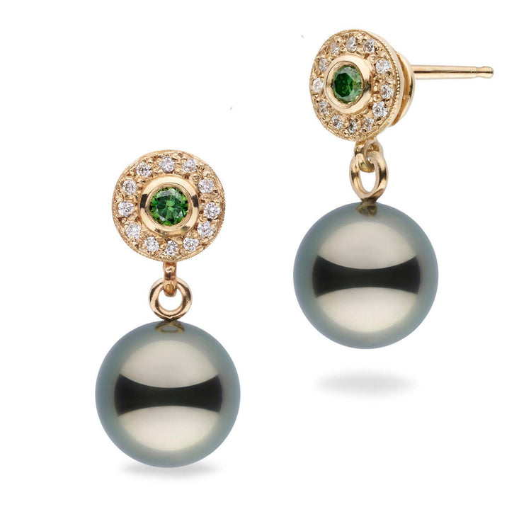 Lavish Collection Tahitian 9.0-10.0 mm Pearl and Diamond Earrings