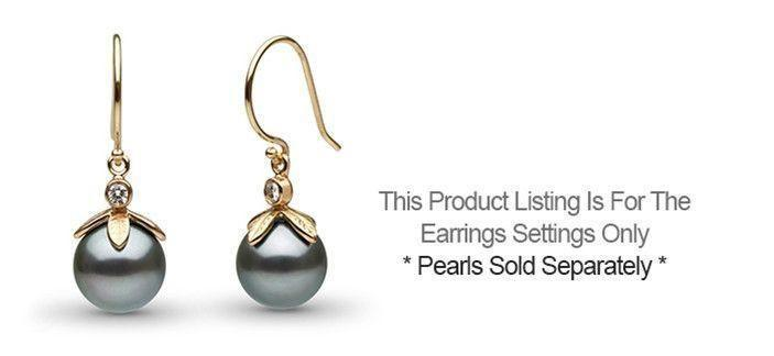 Leaf Collection Diamond Earrings - Setting Only