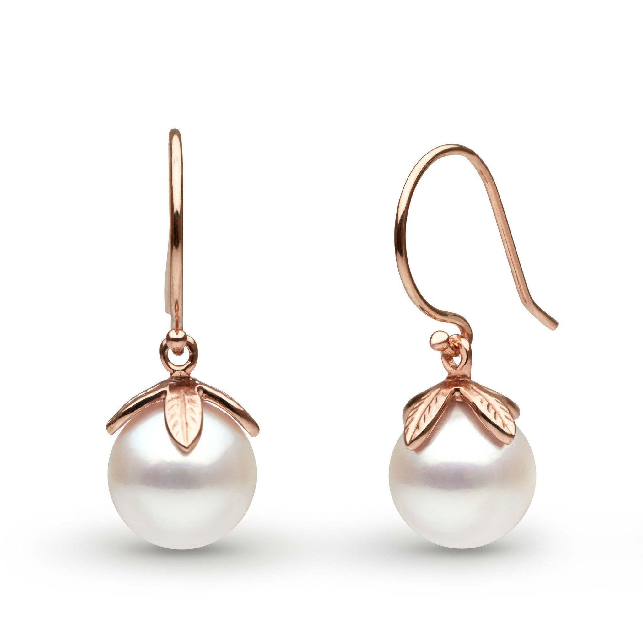 diamond earring akoya and pearls earrings pearl modern accents
