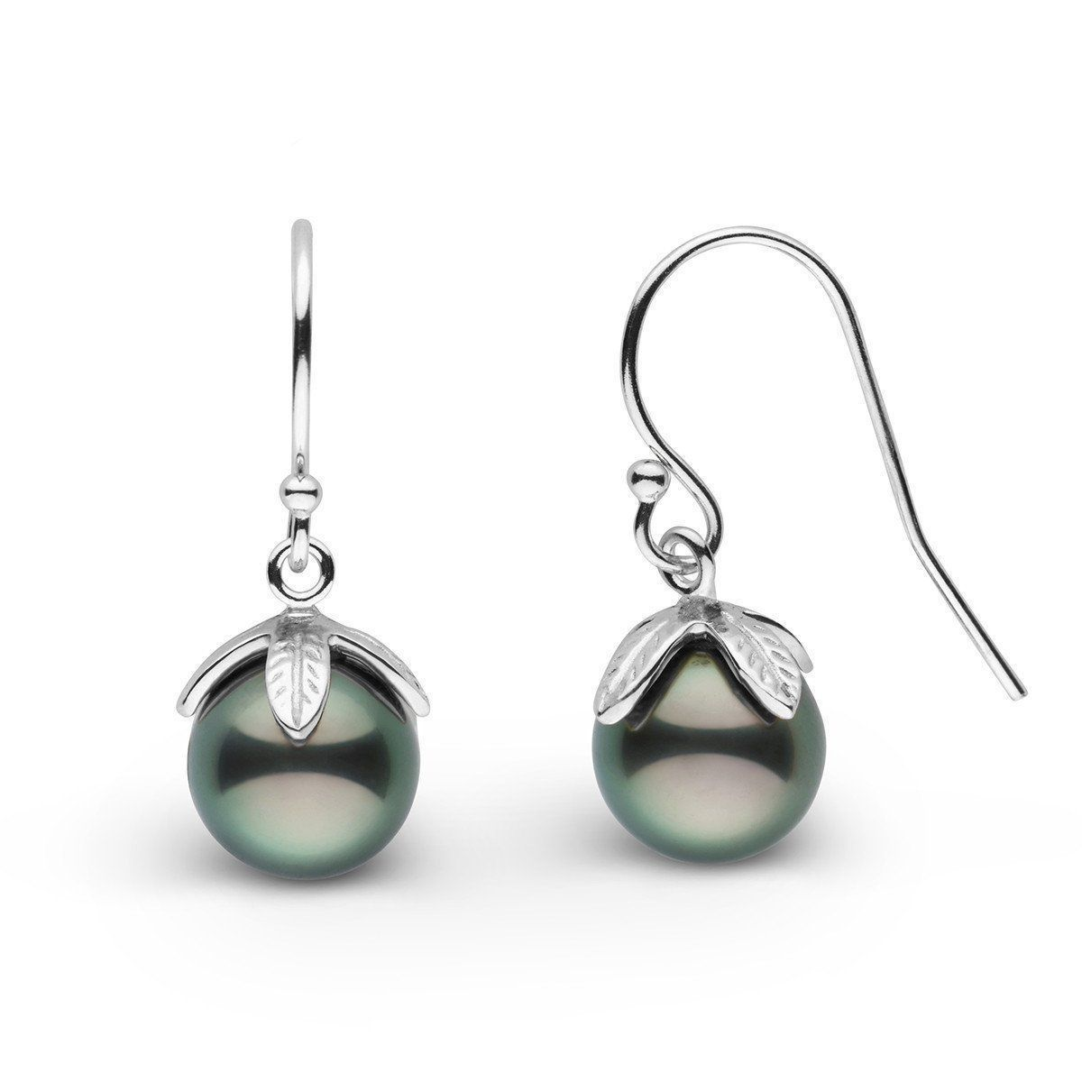 Leaf Collection Tahitian Pearl Earrings