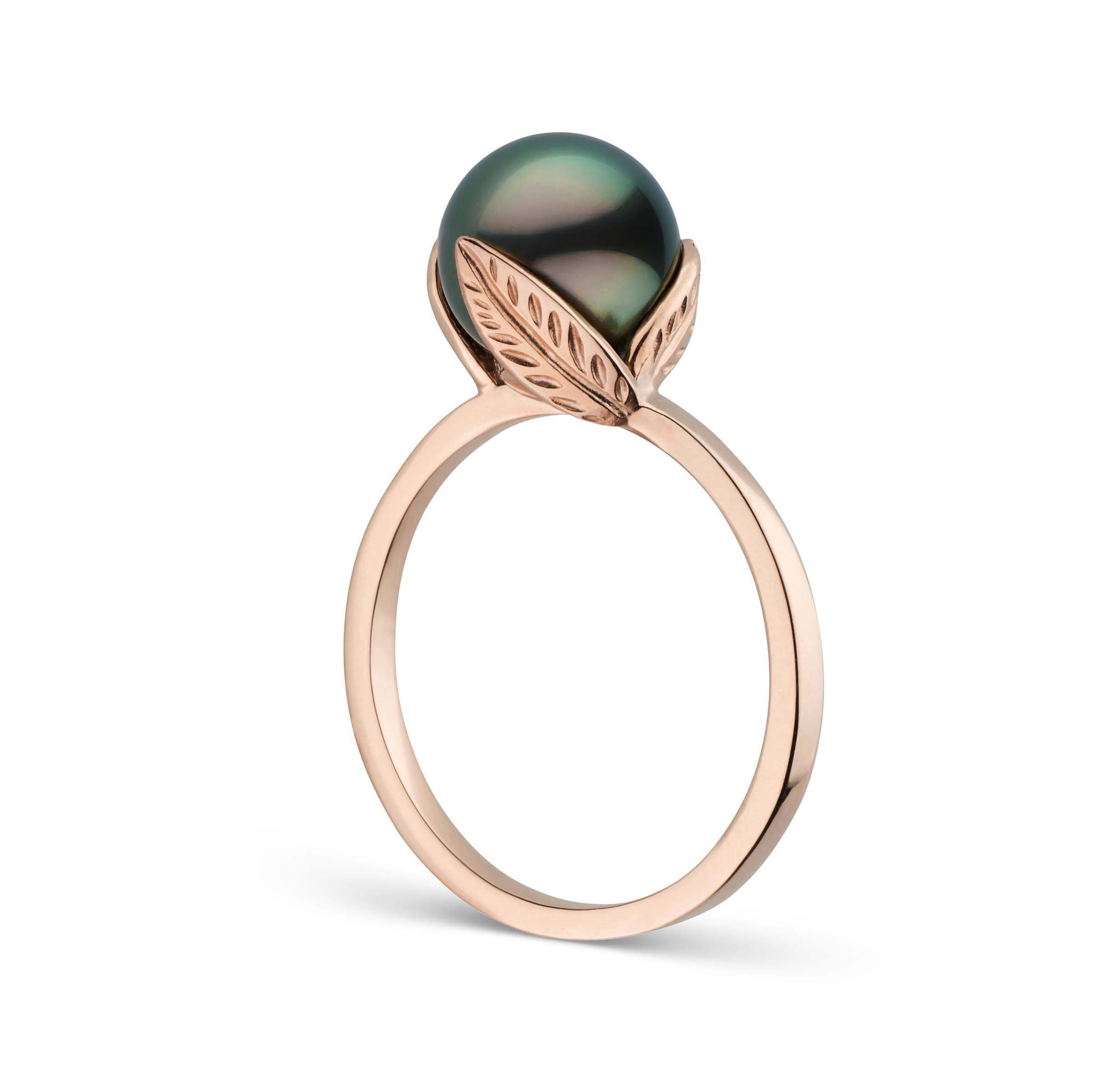 Leaf Collection Tahitian Pearl Ring