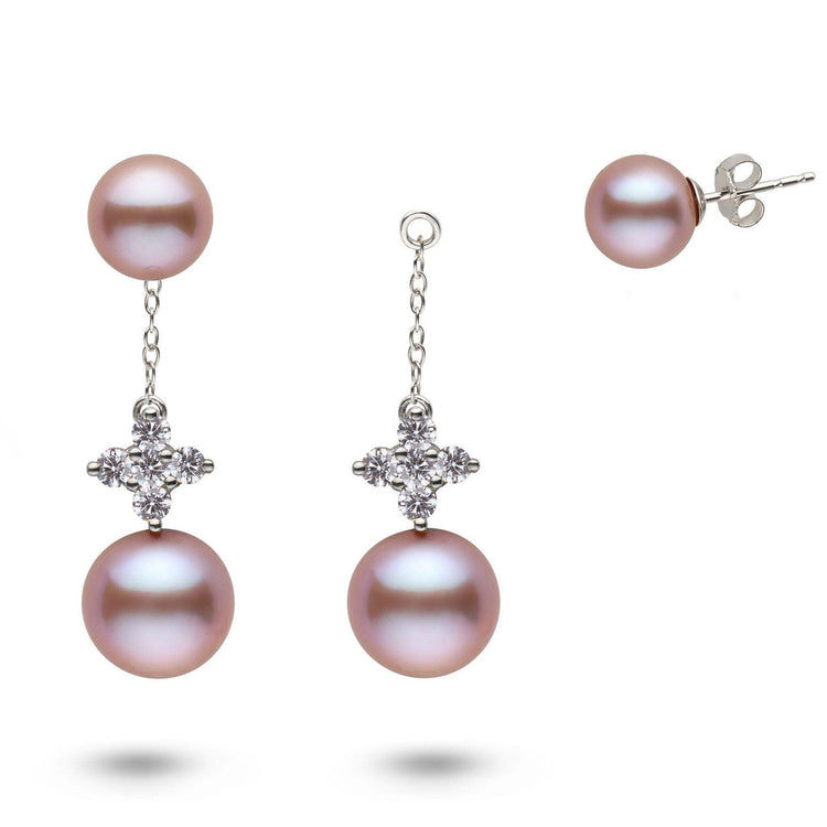 Lilac Collection Lavender Freshadama Pearl and Diamond Earring Jacket Set