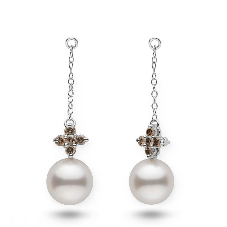 Lilac Collection White South Sea Pearl and Champagne Diamond Earring Jackets
