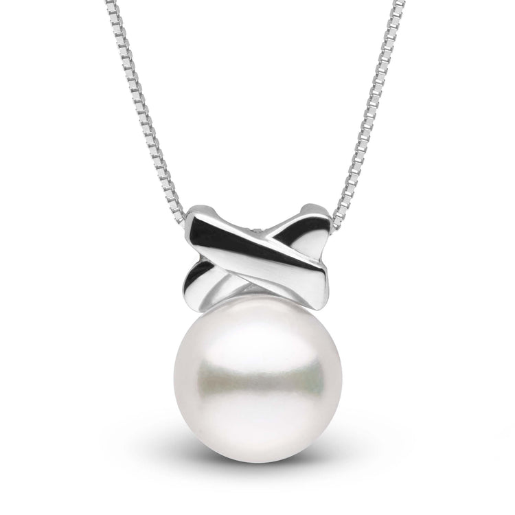Love Collection Akoya Pearl Pendant in Sterling Silver