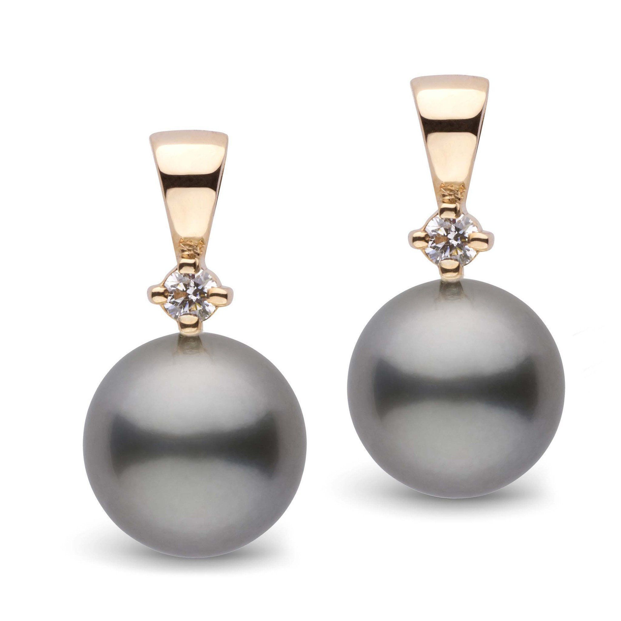 Nobility Collection Tahitian 10.0-11.0 mm Pearl and Diamond Earrings