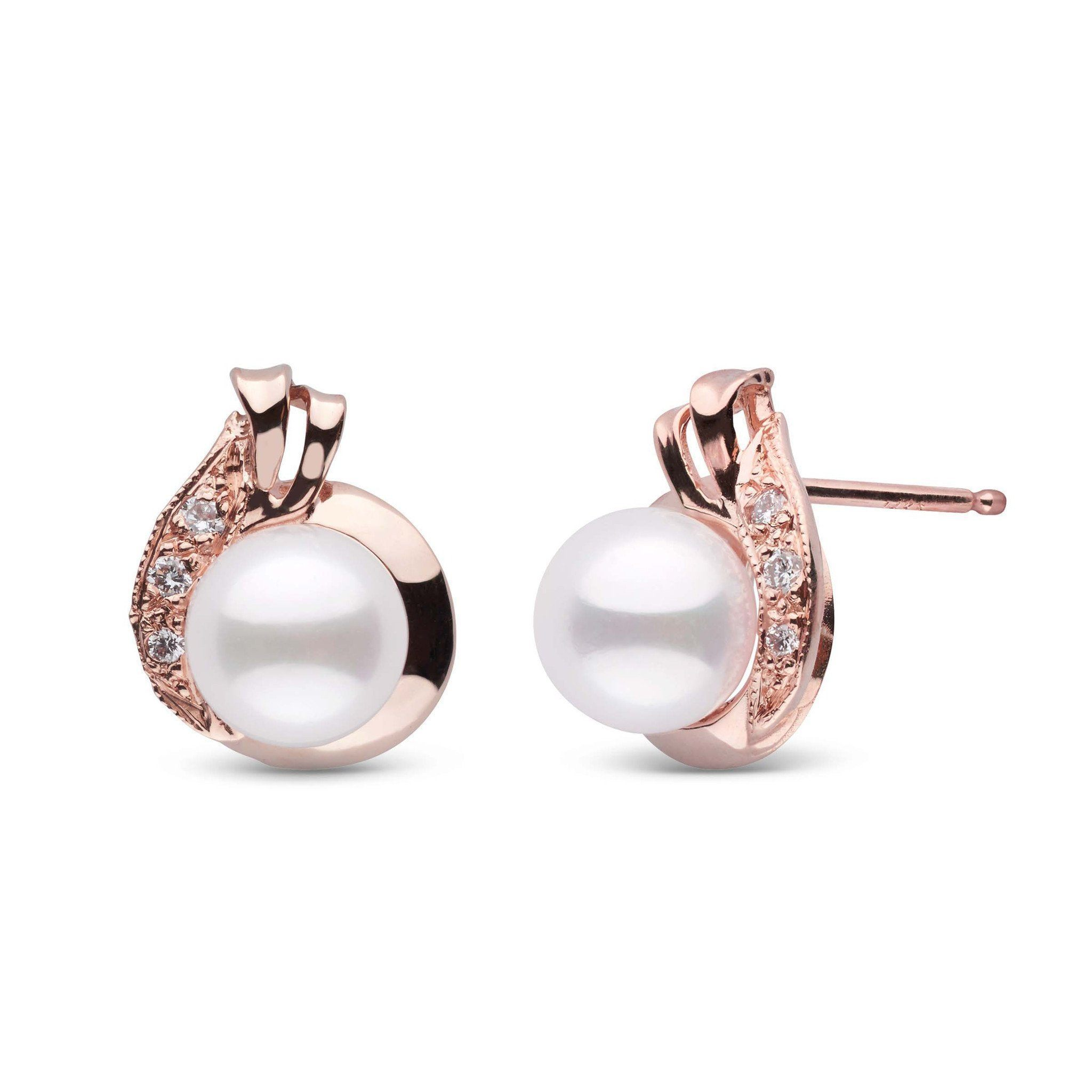 Nova Collection Akoya Pearl and Diamond Earrings
