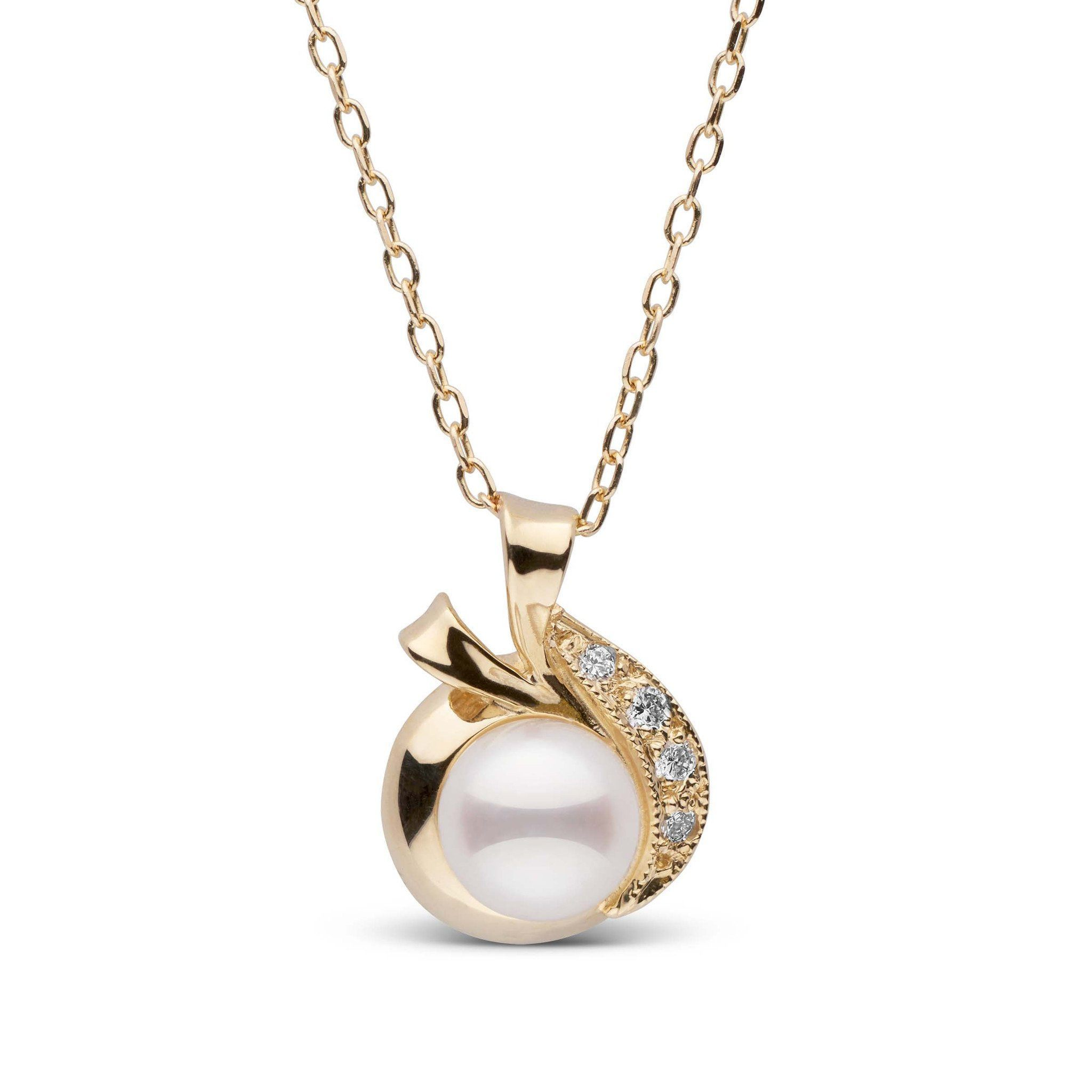 Nova Collection Akoya Pearl and Diamond Pendant