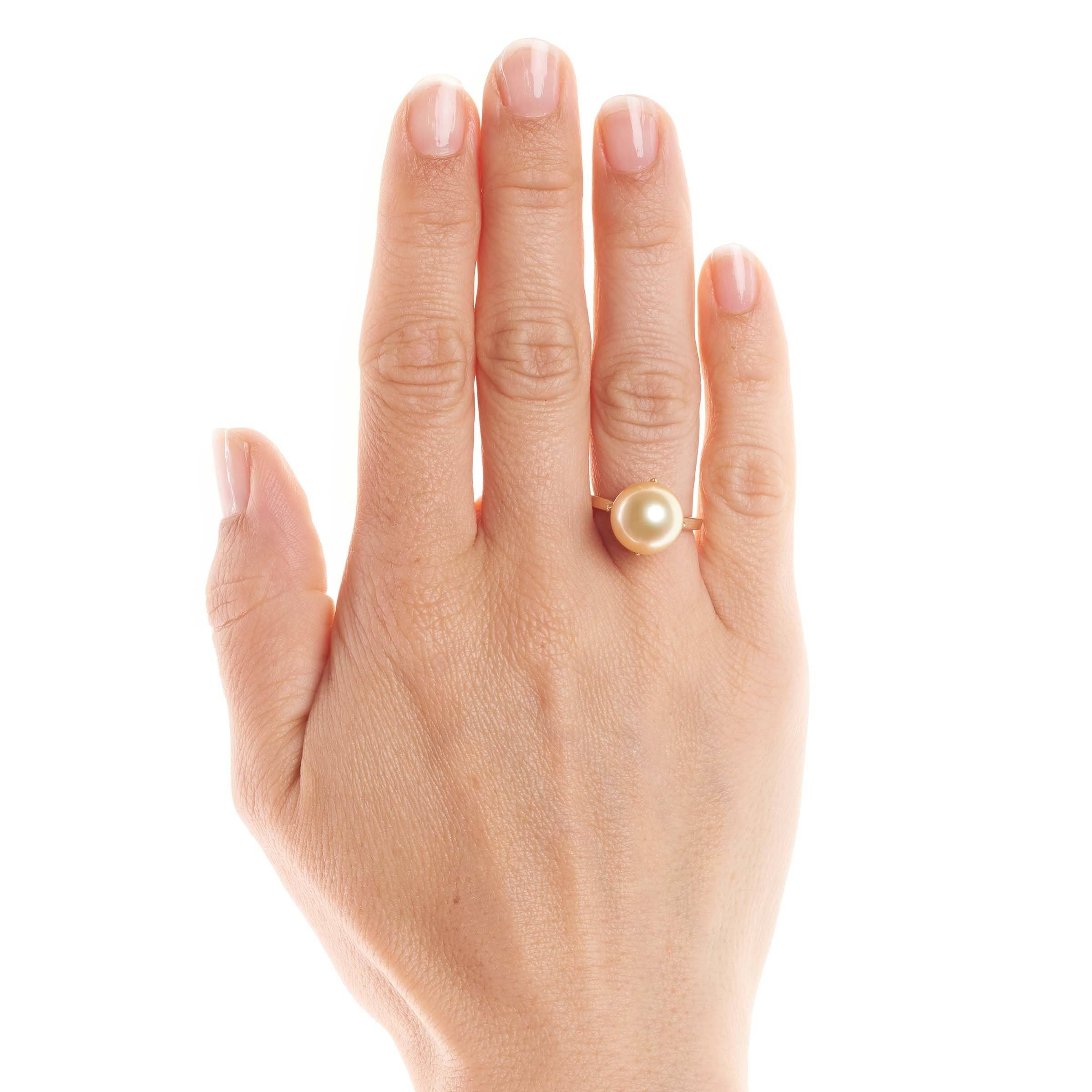 Oracle Collection Golden South Sea Pearl Ring