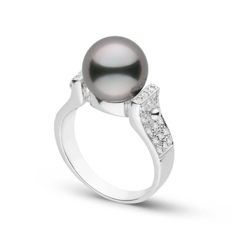 Orbit Collection Tahitian Pearl & Diamond Ring