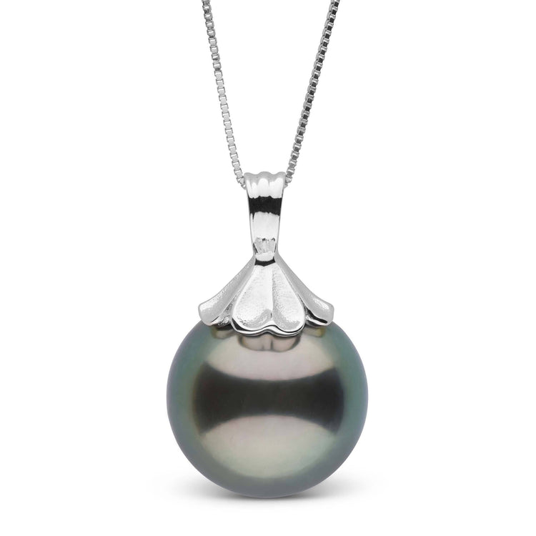 Petal Collection 13.0-14.0 mm Tahitian Pearl Pendant in Sterling Silver