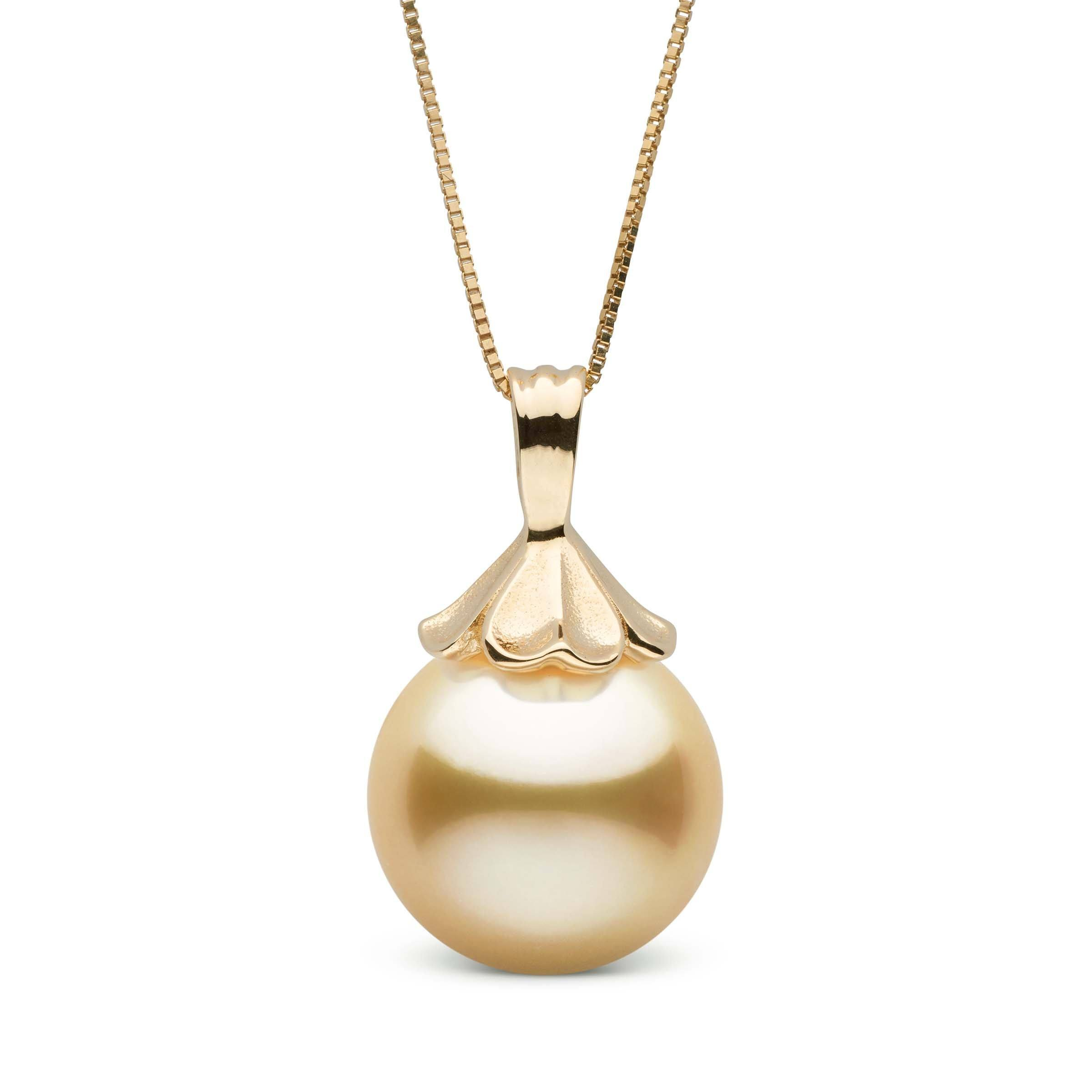 Petal Collection Golden 12.0-13.0 mm South Sea Pearl Pendant