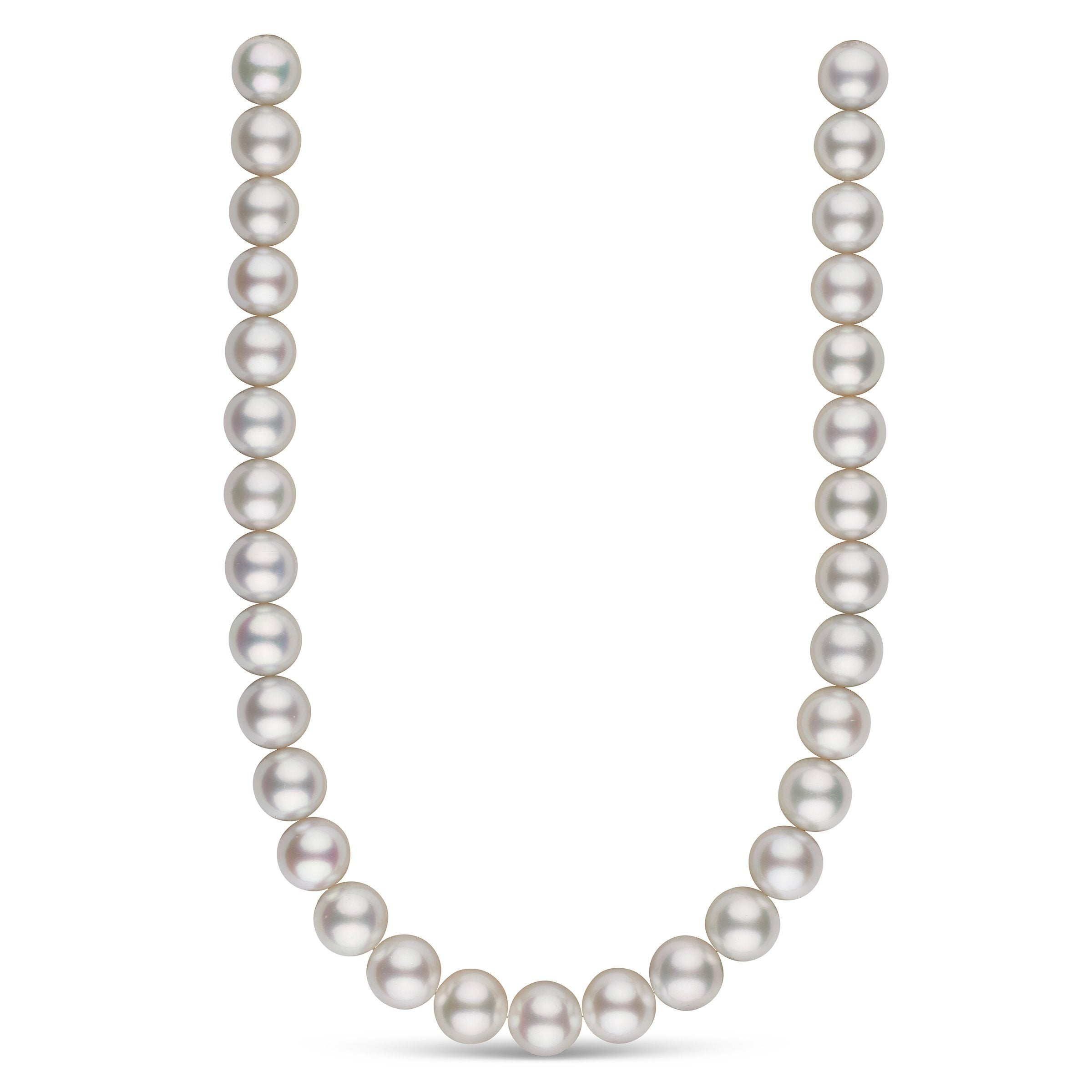 14.0-14.9 mm AA+/AAA White South Sea Round Pearl Necklace