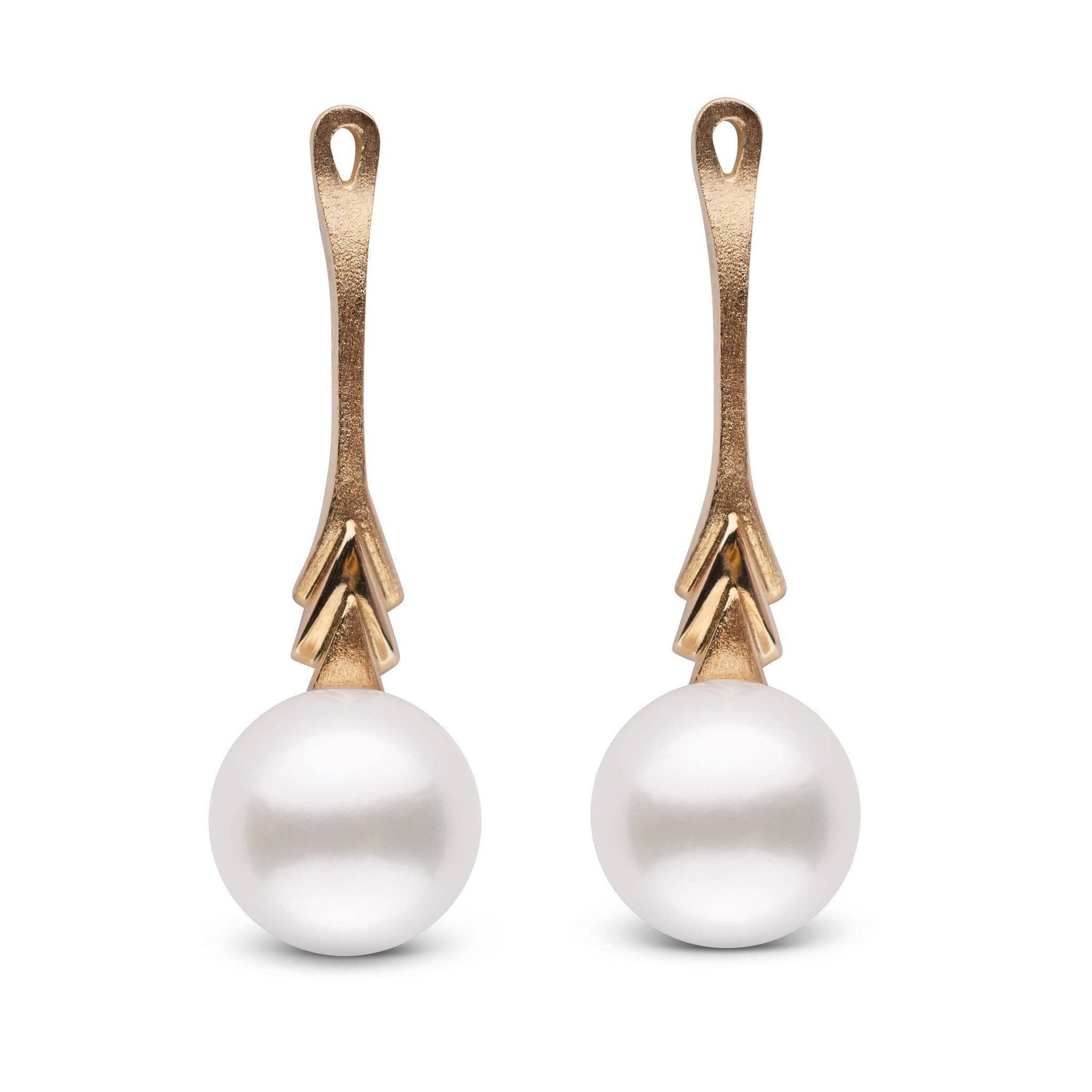 Plume Collection Akoya 8.5-9.0 mm Pearl Earring Jacket