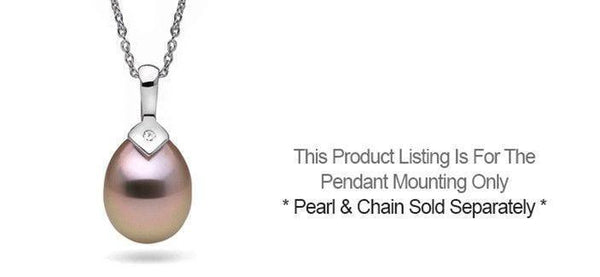 Pendant settings pearl paradise pointe diamond pendant setting only mozeypictures Choice Image