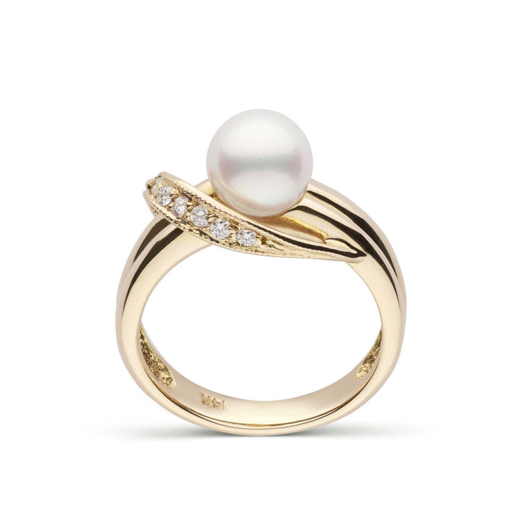 Posh Collection Akoya Pearl and Diamond Ring