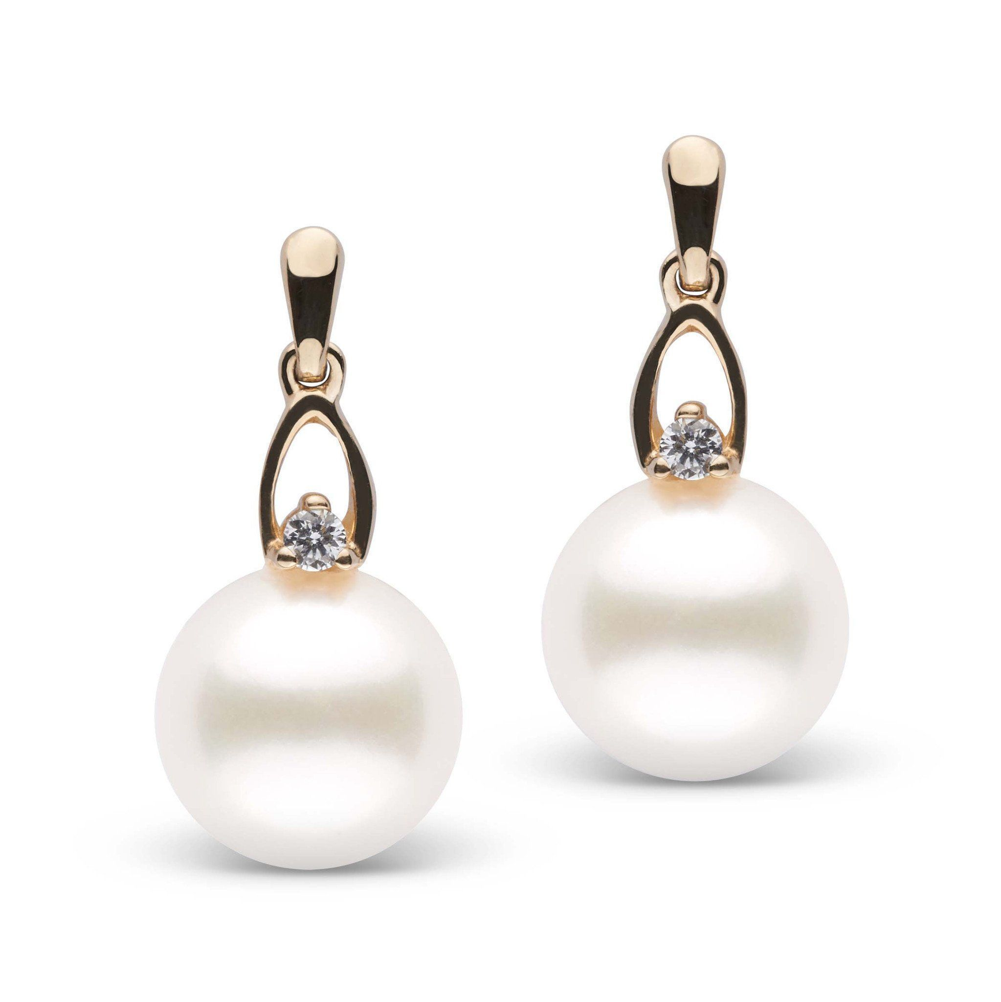 Precious Collection Freshadama Pearl and Diamond Earrings