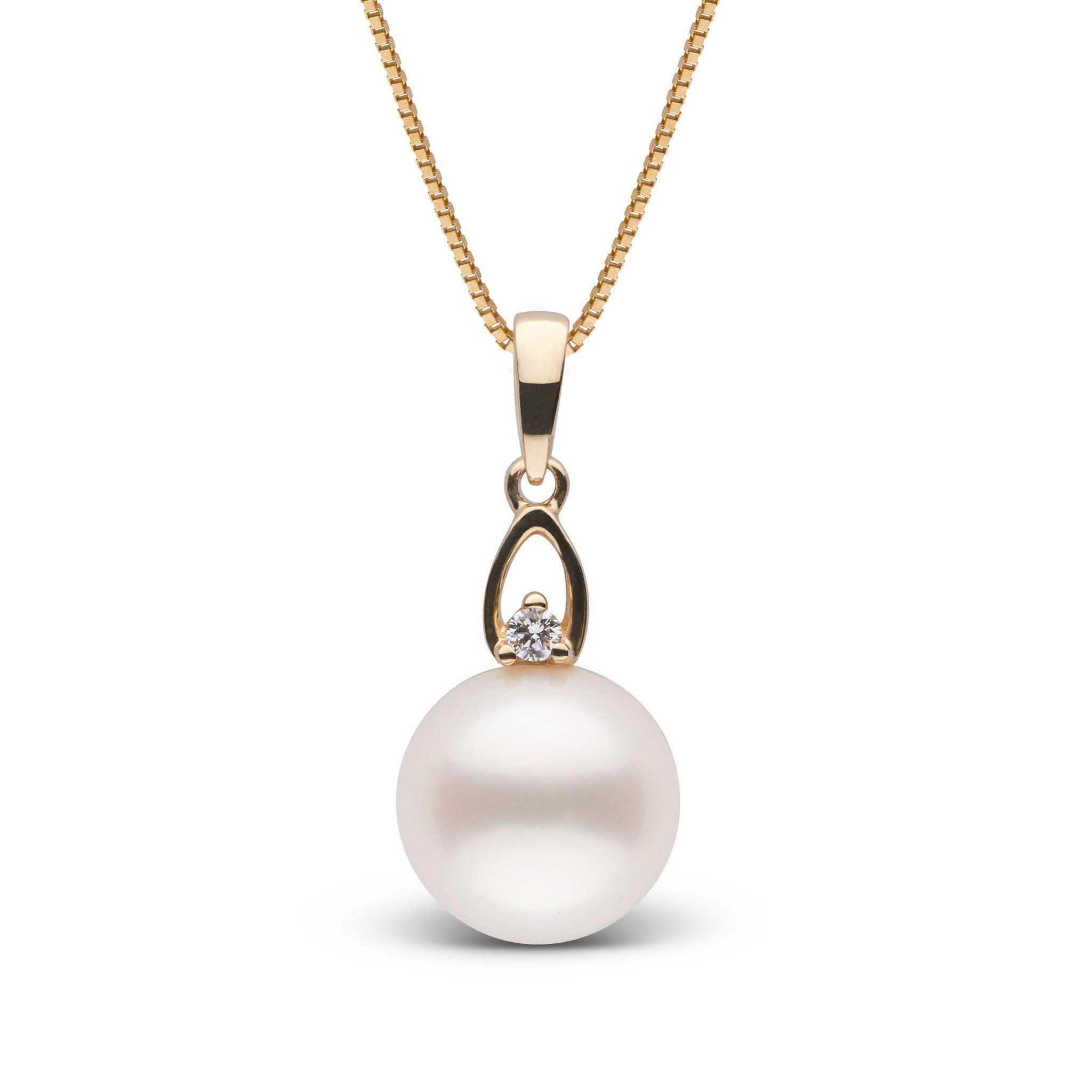 Juliet Collection White Freshadama Pearl and Diamond Pendant
