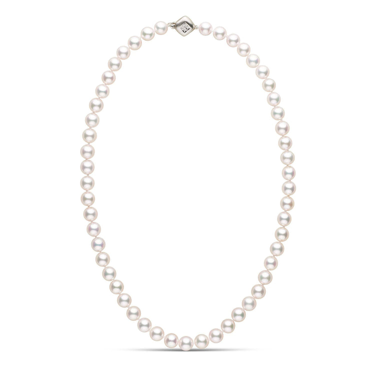 Premier Akoya Cultured Pearl Strand Necklace with Diamond Clasp