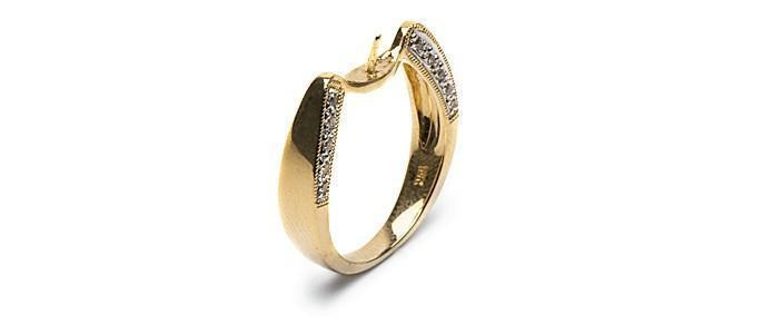 Reflection Diamond Ring 18K Gold - Setting Only