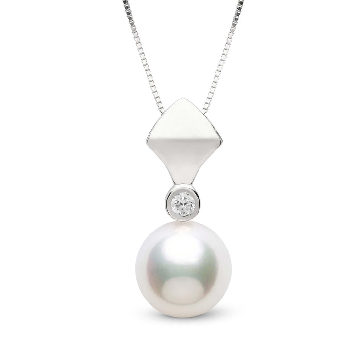 Reuleaux Collection 9.5-10.0 mm Freshadama Freshwater Pearl & Diamond Pendant
