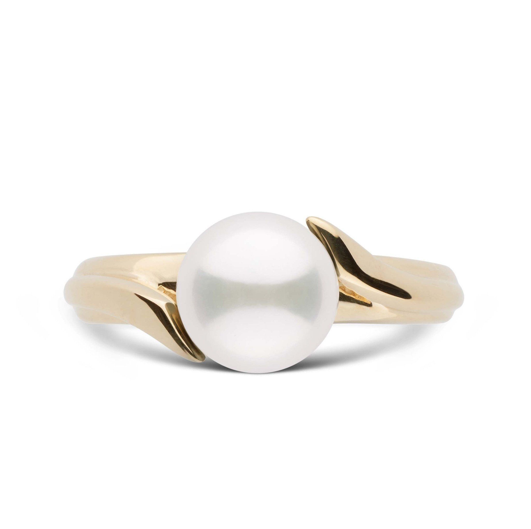 Ribbon Collection Akoya Pearl Ring