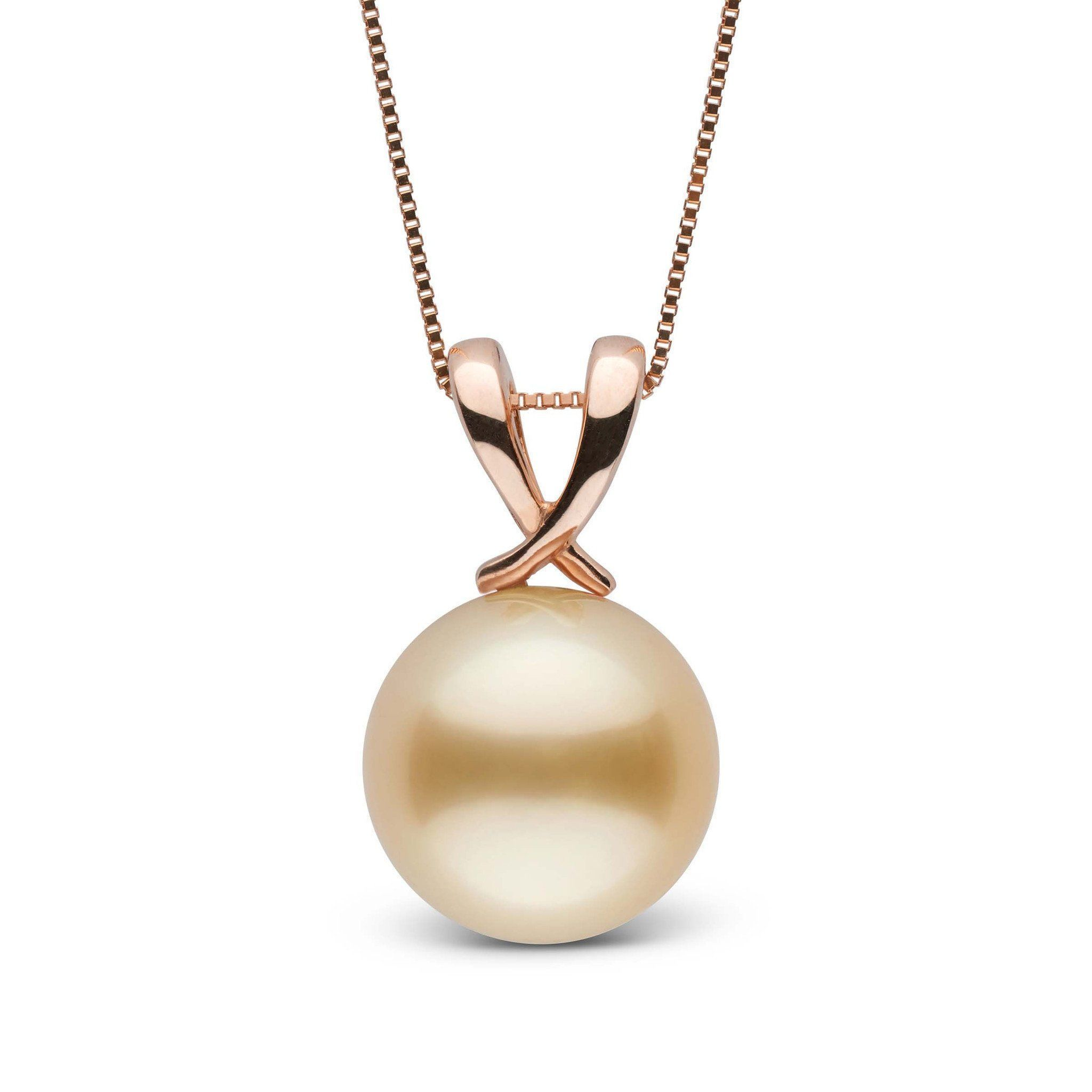 Ribbon Collection Golden 11.0-12.0 mm South Sea Pearl Pendant