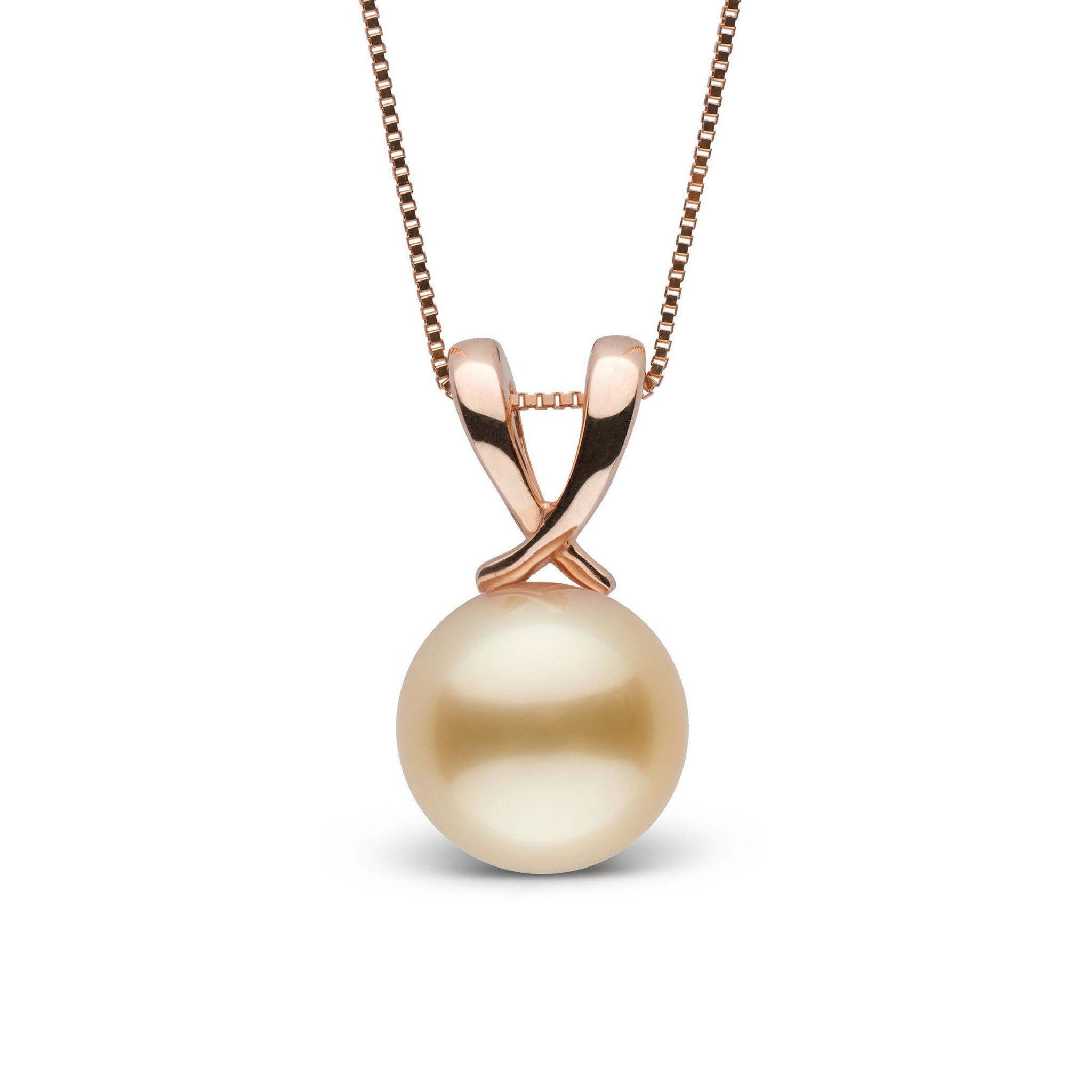 Ribbon Collection Golden 9.0-10.0 mm South Sea Pearl Pendant