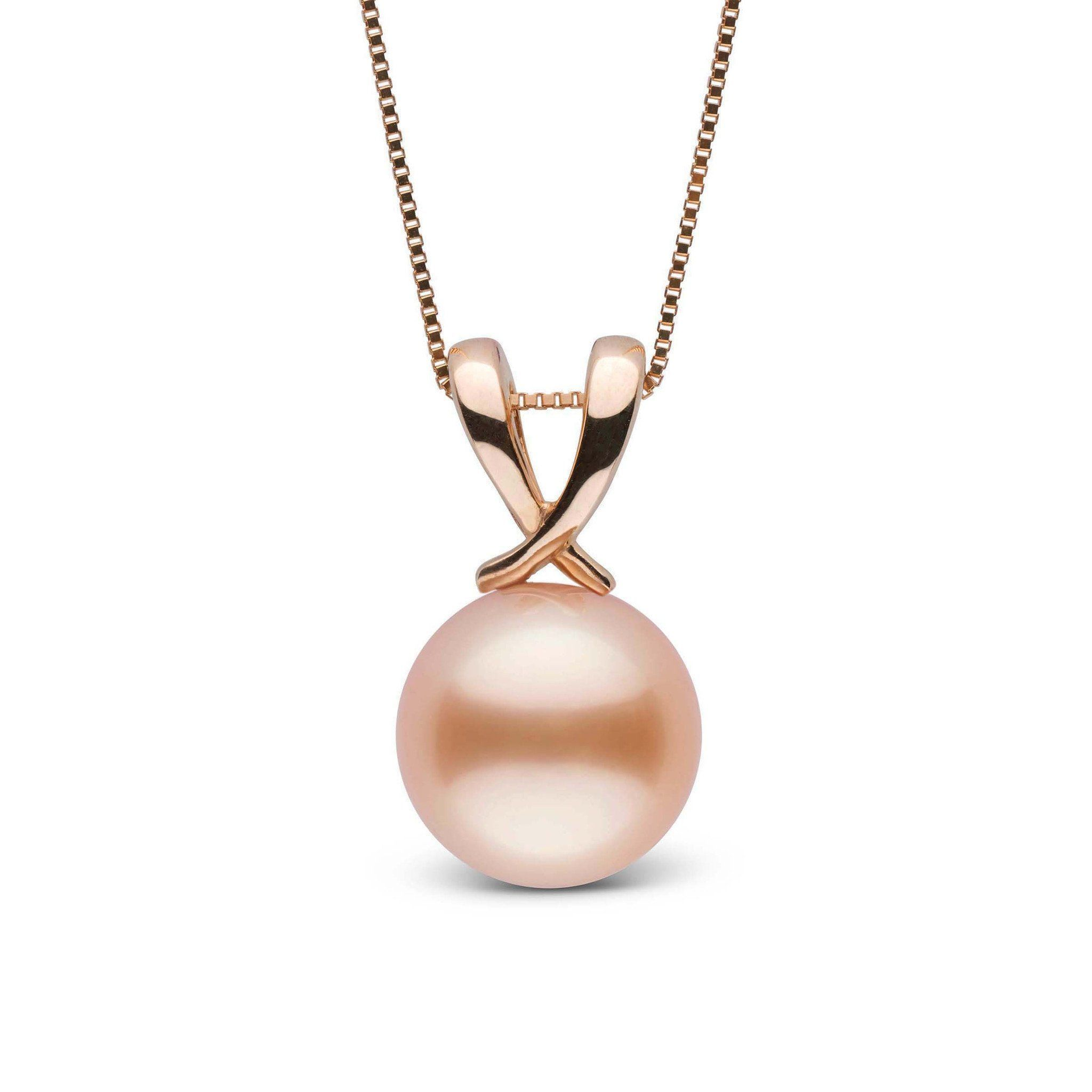 Ribbon Collection Pink to Peach 9.0-10.0 mm Freshadama Freshwater Pearl Pendant
