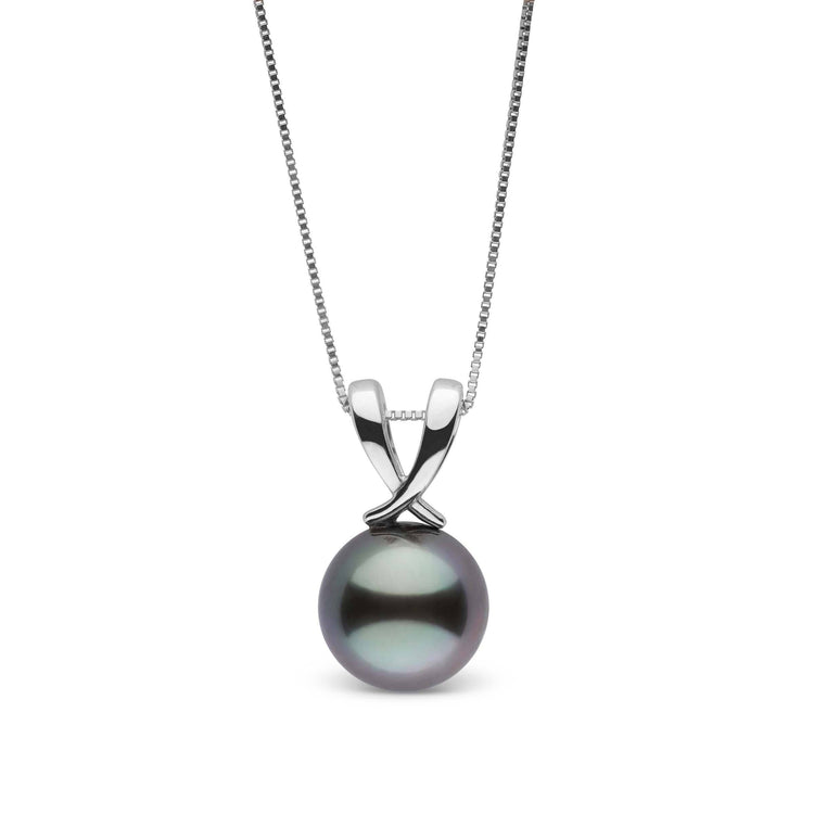 Ribbon Collection Tahitian 9.0-10.0 mm Pearl Pendant in Sterling Silver