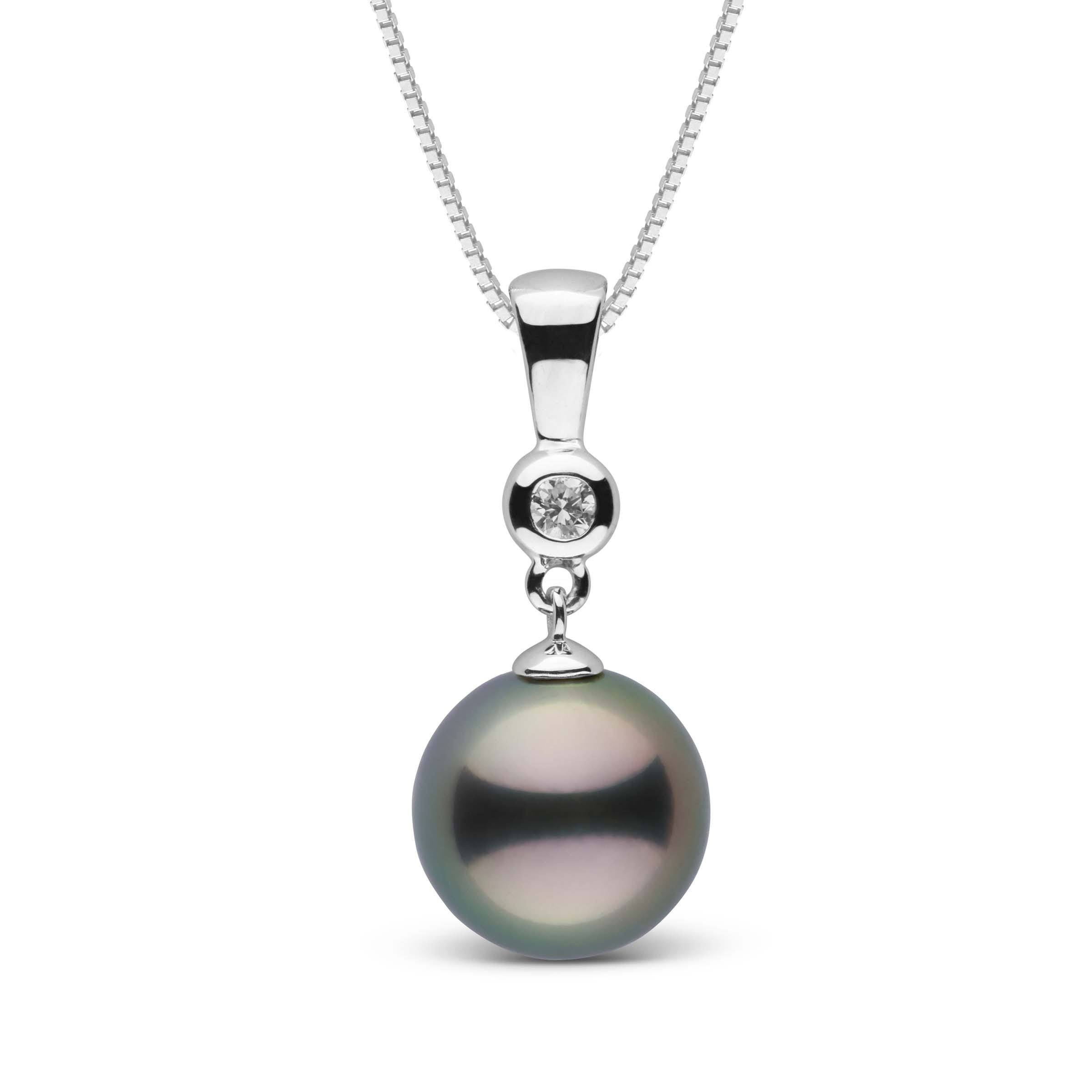 Romantic Collection 10.0-11.0 mm Tahitian Pearl & Diamond Pendant