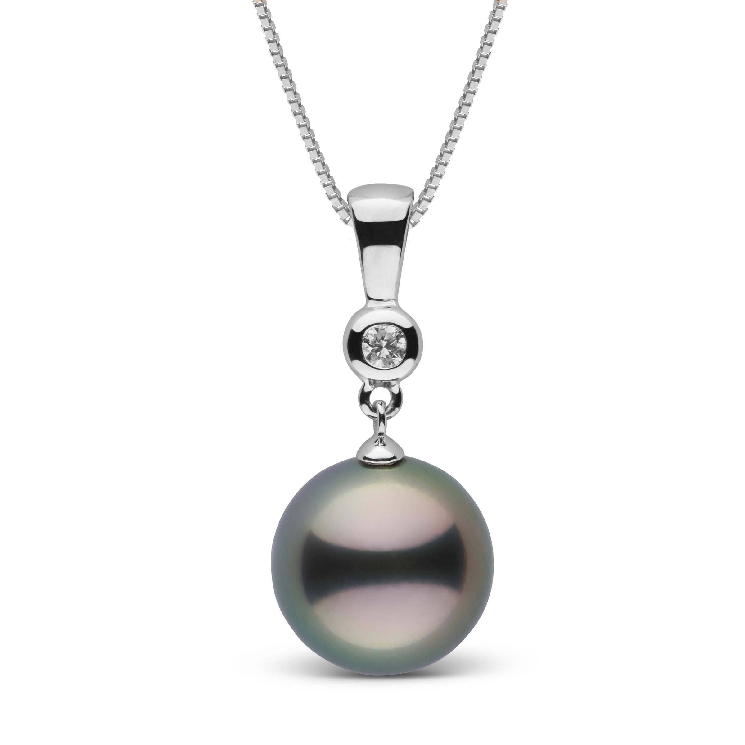 Romantic Collection 11.0-12.0 mm Tahitian Pearl & Diamond Pendant