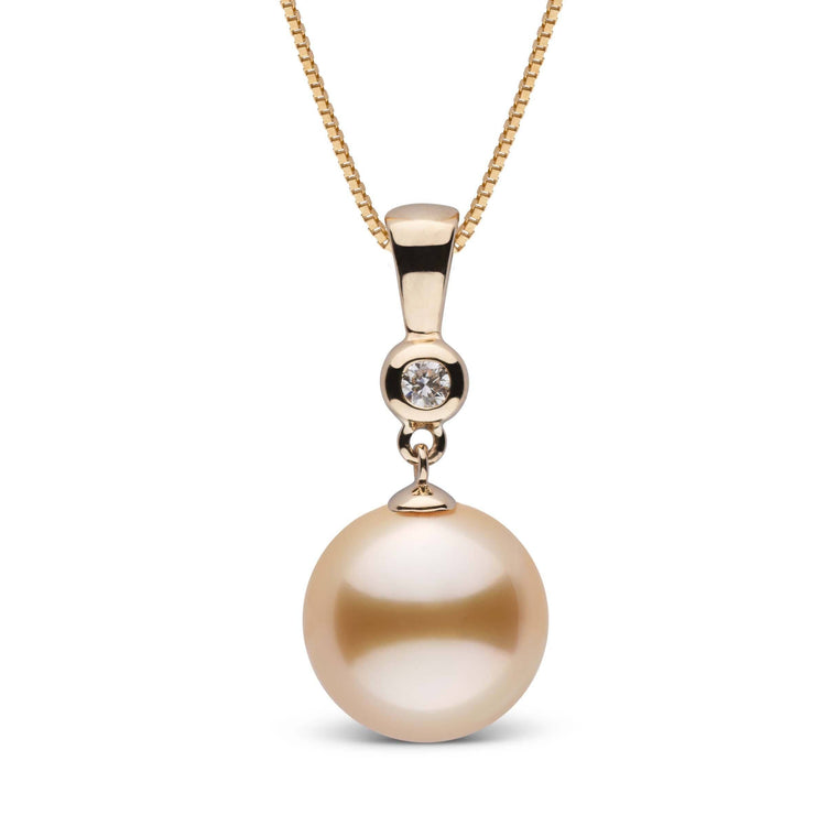 Romantic Collection Golden 11.0-12.0 mm South Sea Pearl & Diamond Pendant