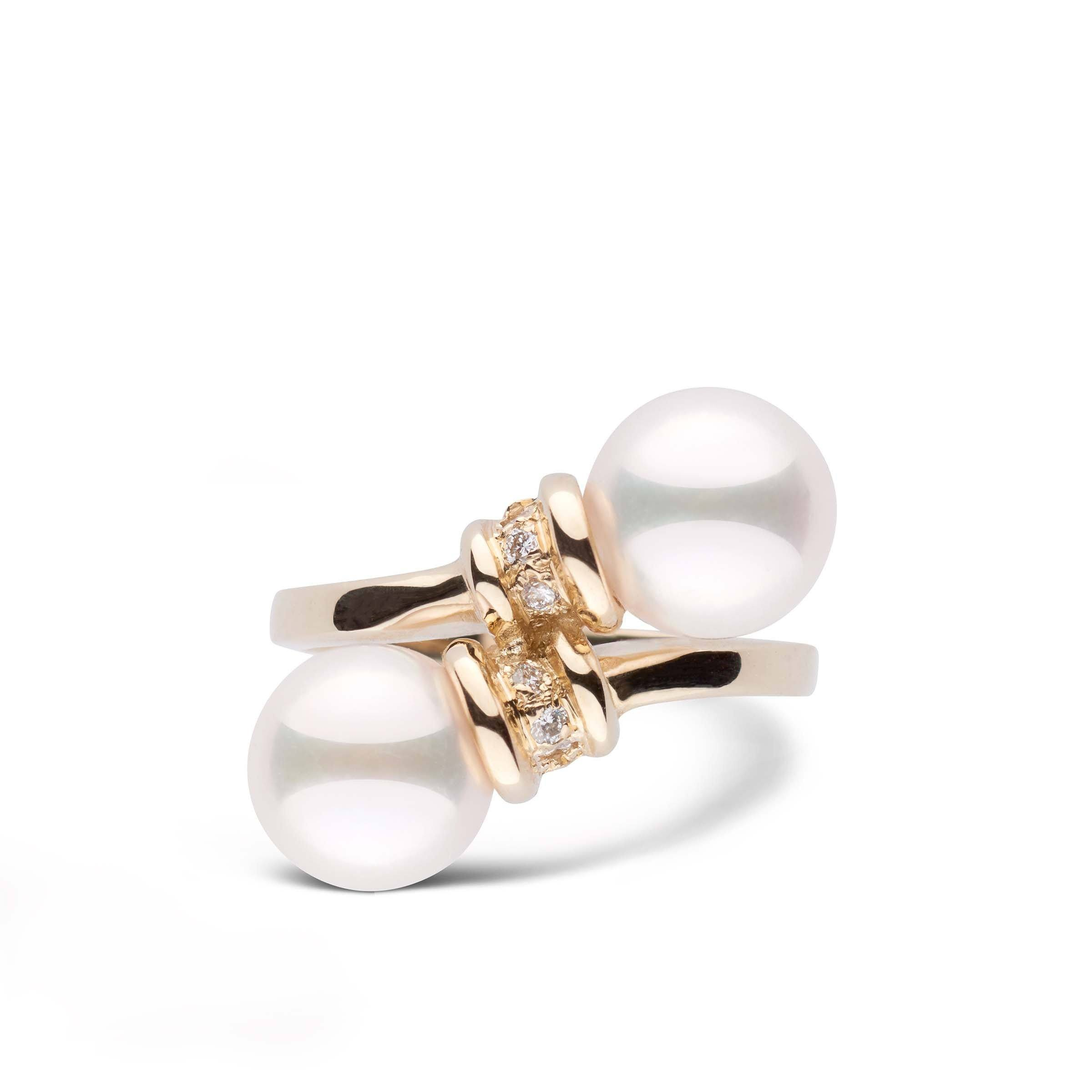Royalty Collection Akoya Pearl and Diamond Ring