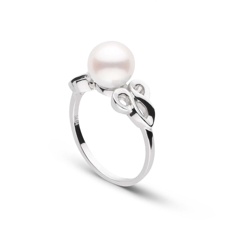 Scroll Collection Akoya Pearl Ring