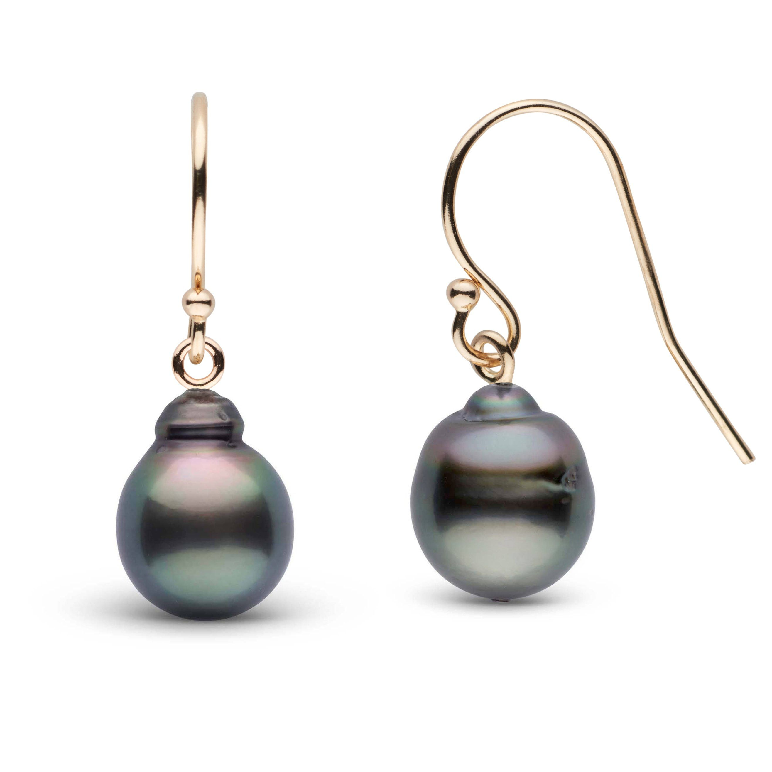8.0-9.0 mm Tahitian Baroque Pearl French Wire Earrings
