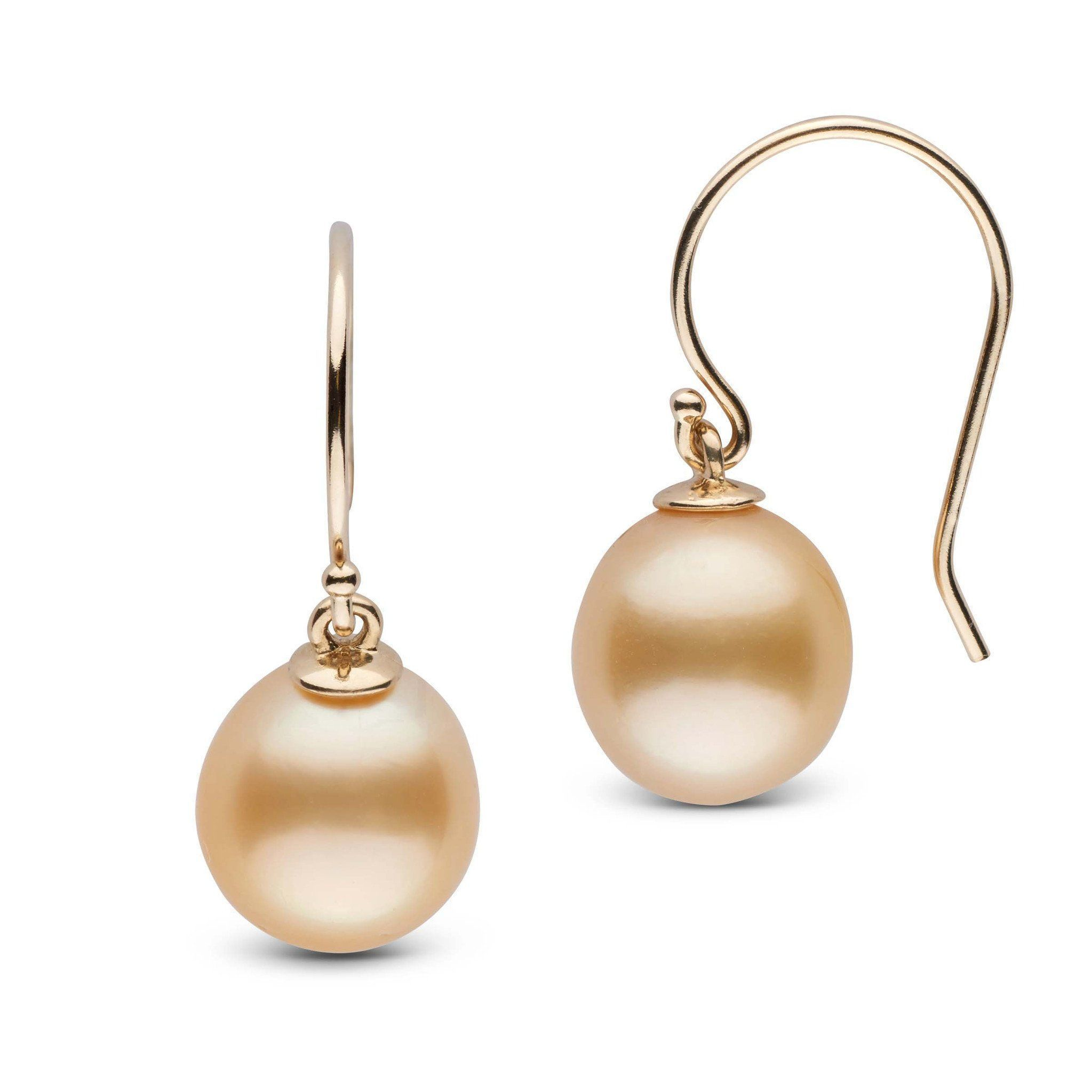 Shepherd Collection Drop Golden South Sea 9.0-10.0 mm Pearl Earrings