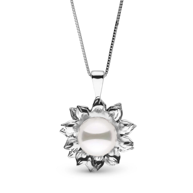 Soleil Collection Akoya Pearl Pendant in Sterling Silver