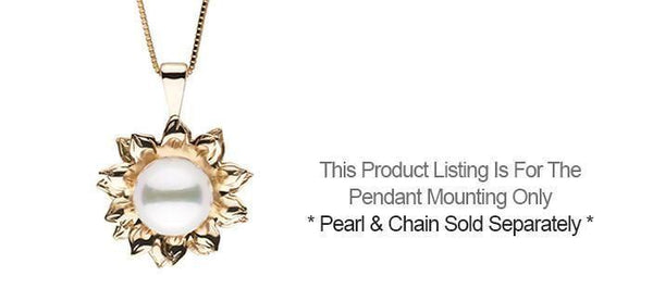 Pendant settings pearl paradise soleil collection pendant setting only aloadofball Images