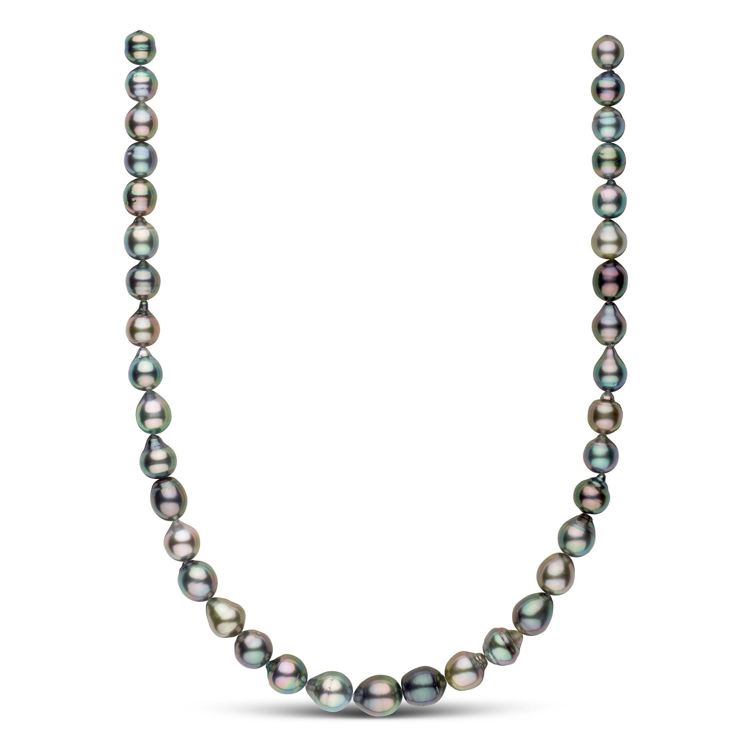 Splendid Drop-Shape Multicolor Tahitian Necklace