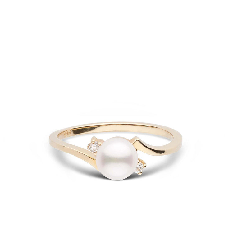 Starlight Collection Akoya Pearl and Diamond Ring